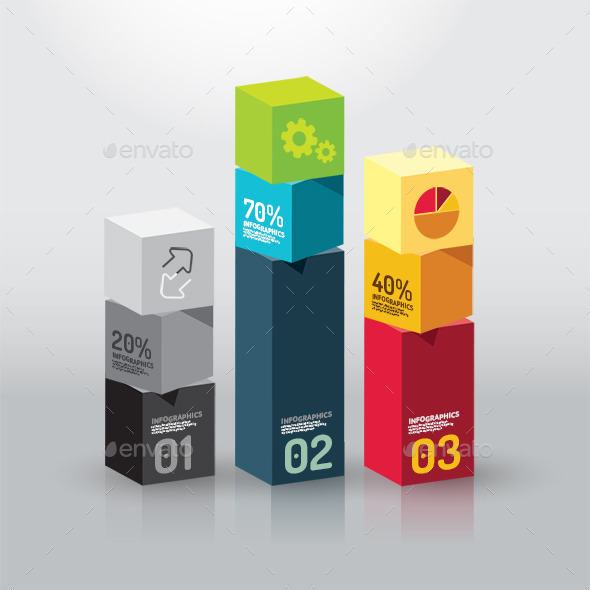 GraphicRiver Number Colour Banners Modern Design Box Template 10202194