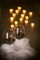 heart lights and wine glasses - PhotoDune Item for Sale