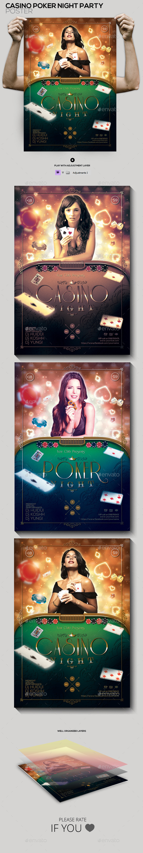 GraphicRiver Casino Poker Night Party Poster Flyer 10202259
