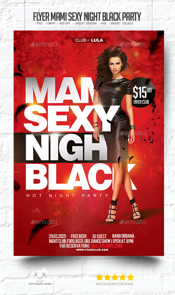Flyer Mami Sexy Night Black Party