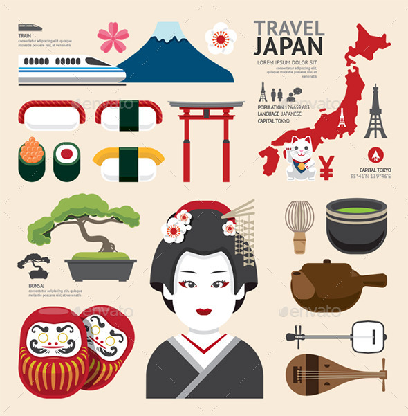 GraphicRiver Infographic Japan Travel Design 10185091