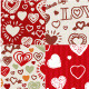 10 Valentines Day Patterns - GraphicRiver Item for Sale