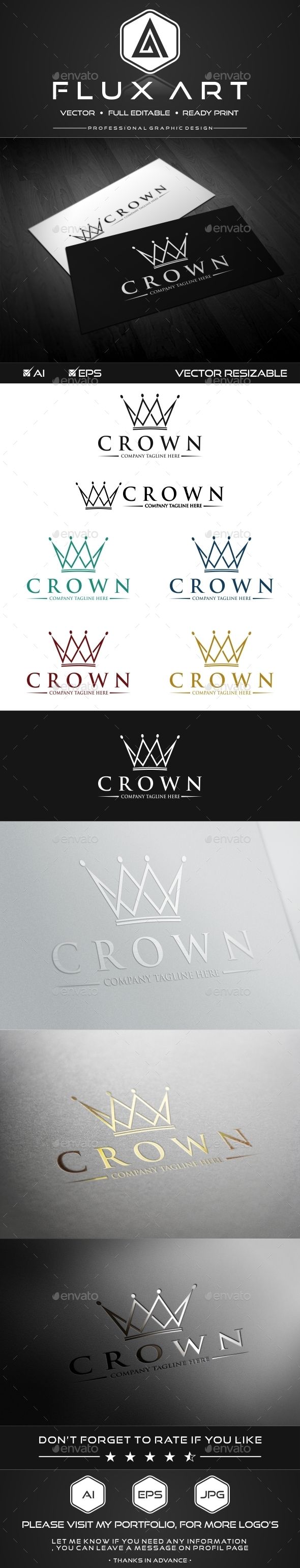 GraphicRiver Royal Crown Logo 10172266