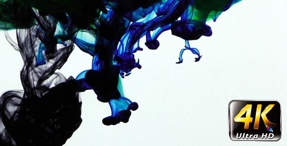 Colorful Paint Ink Drops Splash in Underwater 6