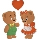 Bears with Heart - GraphicRiver Item for Sale