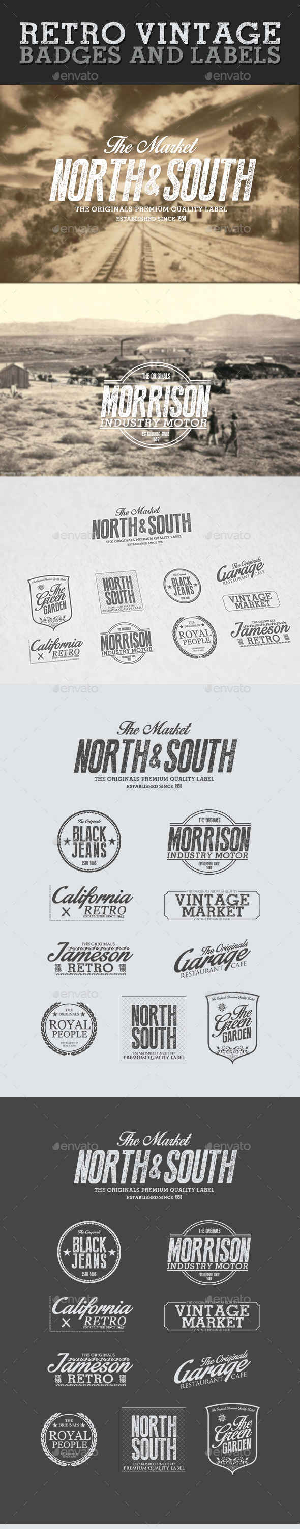 GraphicRiver Retro Vintage Badges and Labels 10202867