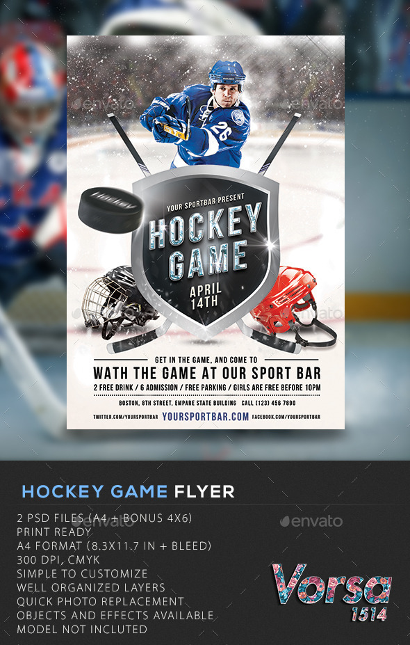 GraphicRiver Hockey Game Flyer 10203078