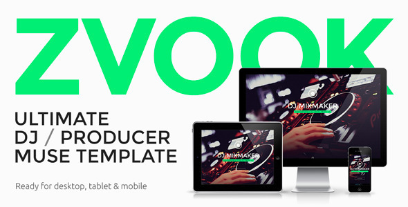 ThemeForest Zvook Ultimate DJ Producer Muse Template 10203122