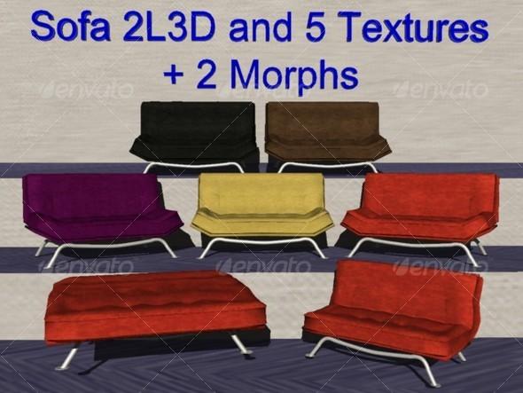 3DOcean Sofa 2L3D 128866