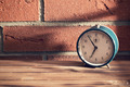 old clock in front of a brick wall - PhotoDune Item for Sale