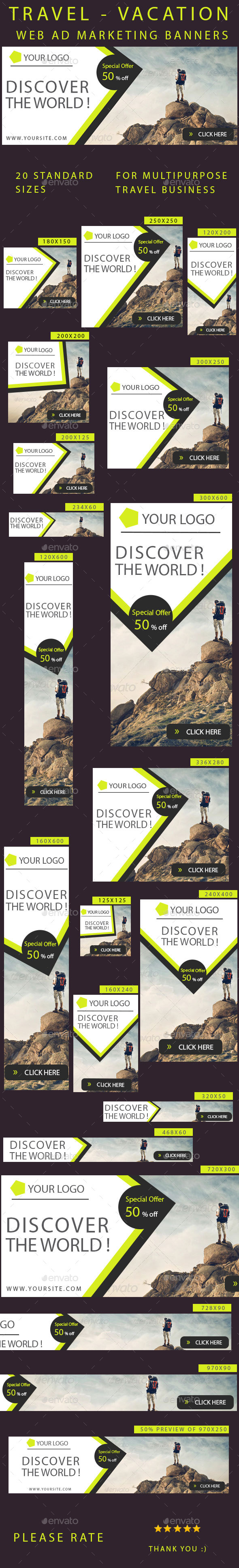GraphicRiver Banners Travel 10203374