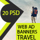 Travel - Vacation Web Ad Marketing Banners - GraphicRiver Item for Sale