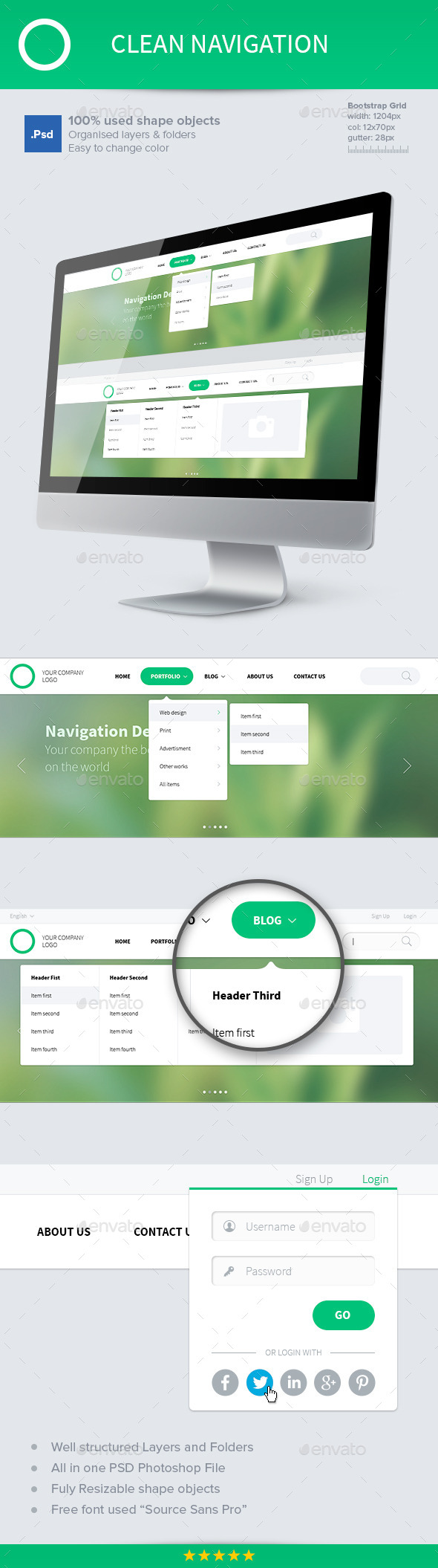 GraphicRiver Clean Navigation 10203563