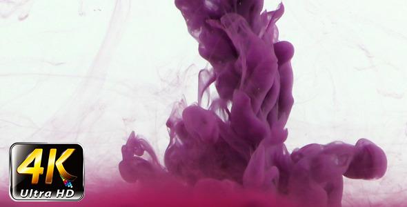 Colorful Paint Ink Drops Splash in Underwater 20