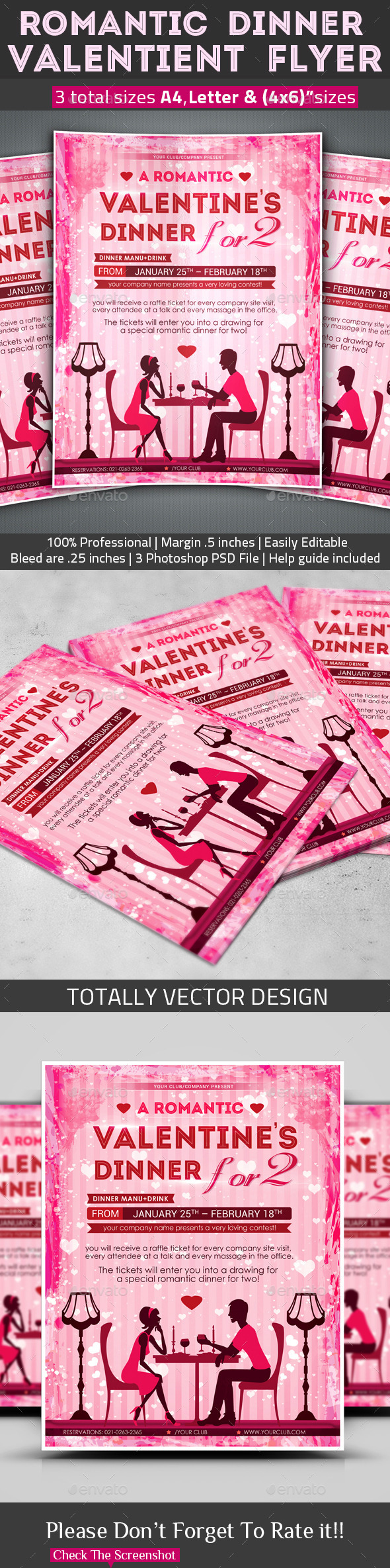 GraphicRiver Romantic Dinner Valentine s Flyer 10155021