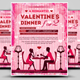 Romantic Dinner  Valentine's Flyer - GraphicRiver Item for Sale
