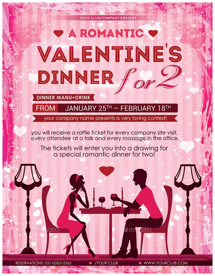 Romantic Dinner Valentines Flyer by AlMamun – Dinner Flyer