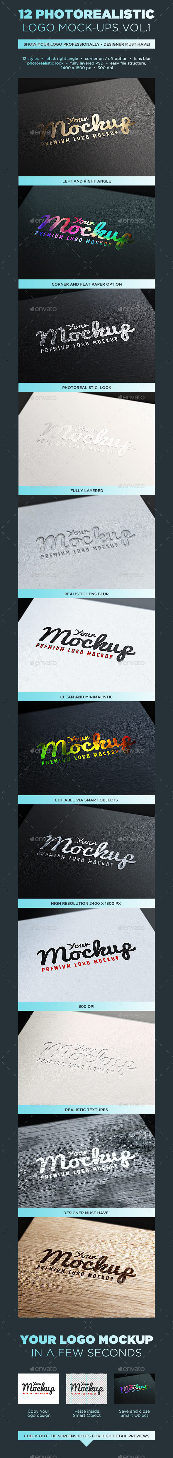 GraphicRiver Your Mockup Logo Mockups VOL.1 10203925