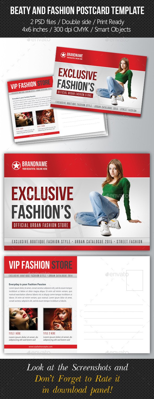 GraphicRiver Fashion and Beauty Postcard Template V03 10203941