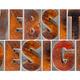 website design in wood type - PhotoDune Item for Sale