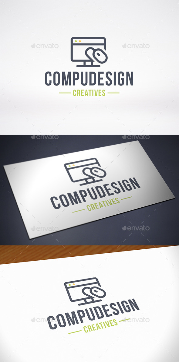 GraphicRiver Computer Design Logo Template 10204786