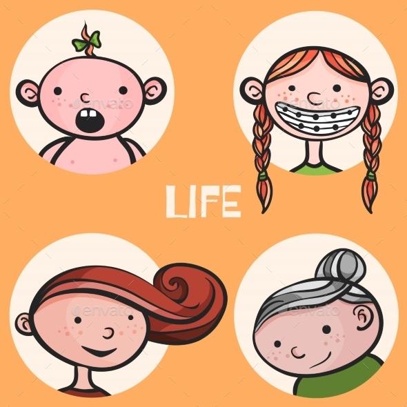 GraphicRiver Woman Life Cycle 10205084