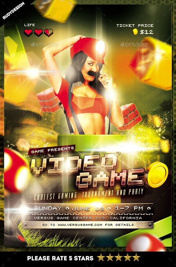 Amazing Online Gaming Flyer Template