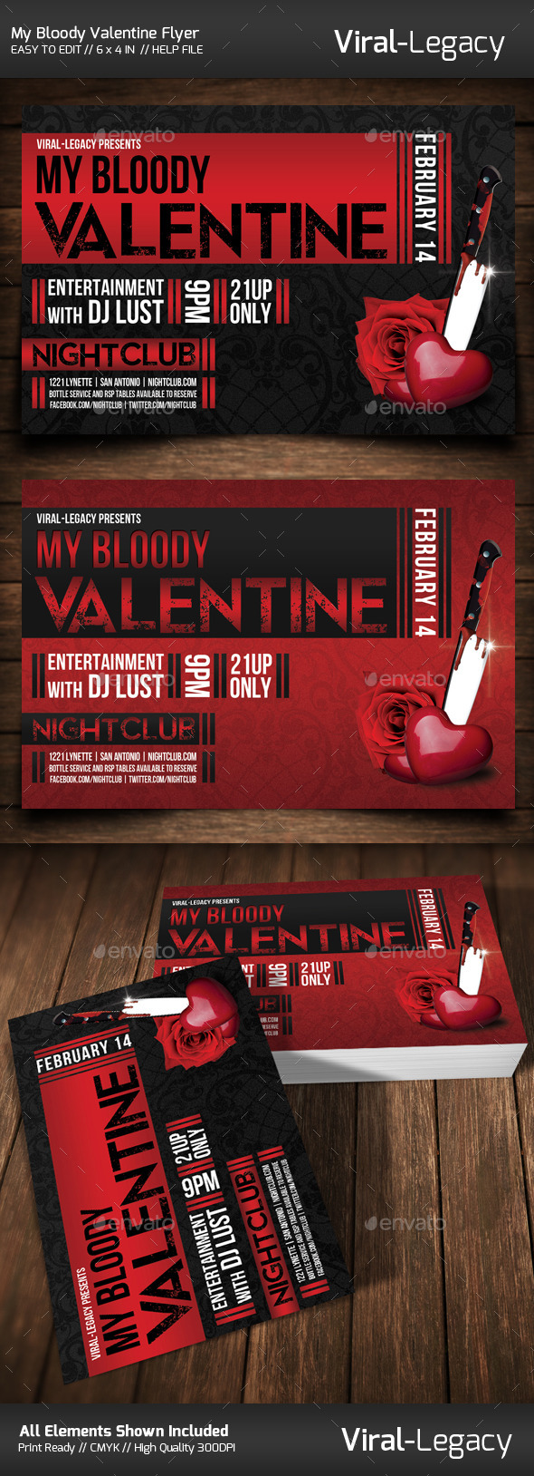 GraphicRiver My Bloody Valentine Flyer 10205387