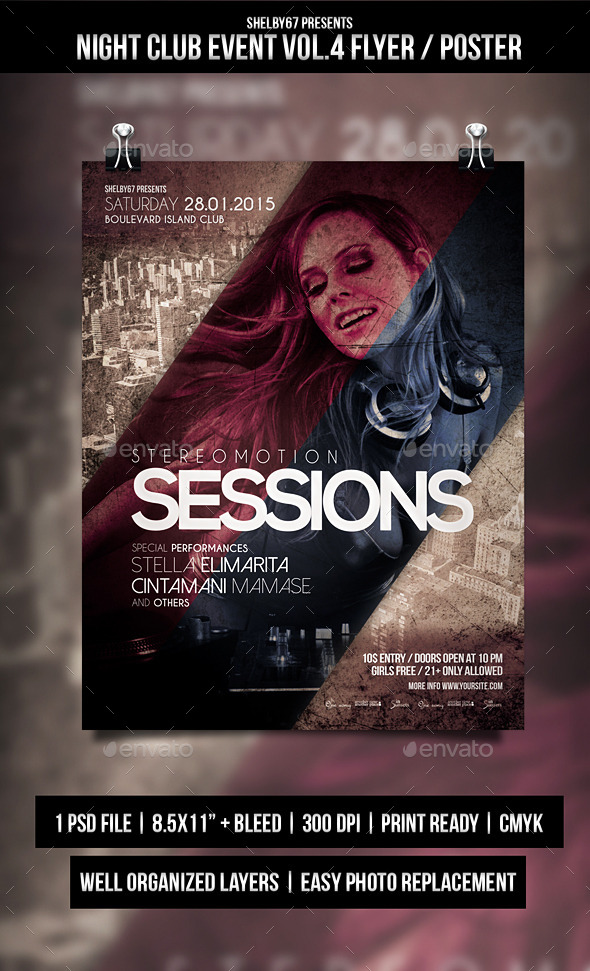 GraphicRiver Night Club Event Flyer Poster Vol.4 10205430