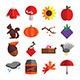 Autumn Season Icons Set - GraphicRiver Item for Sale