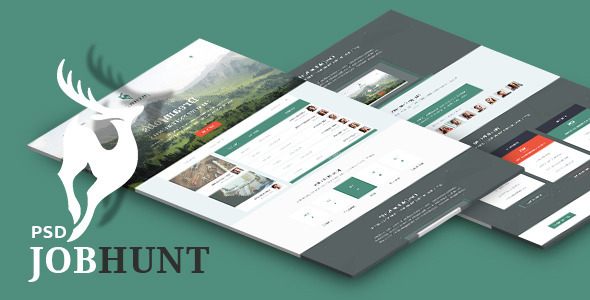 ThemeForest JobHunt Elegant Job Board PSD Template 10205458