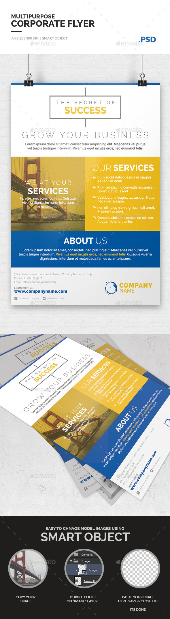 GraphicRiver Multipurpose Corporate Flyer Template 10205589