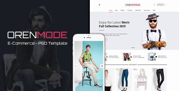 ThemeForest OrenMode Ecommerce PSD Template 10140200