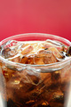 A glass of cola soft drink with ice cubes - PhotoDune Item for Sale