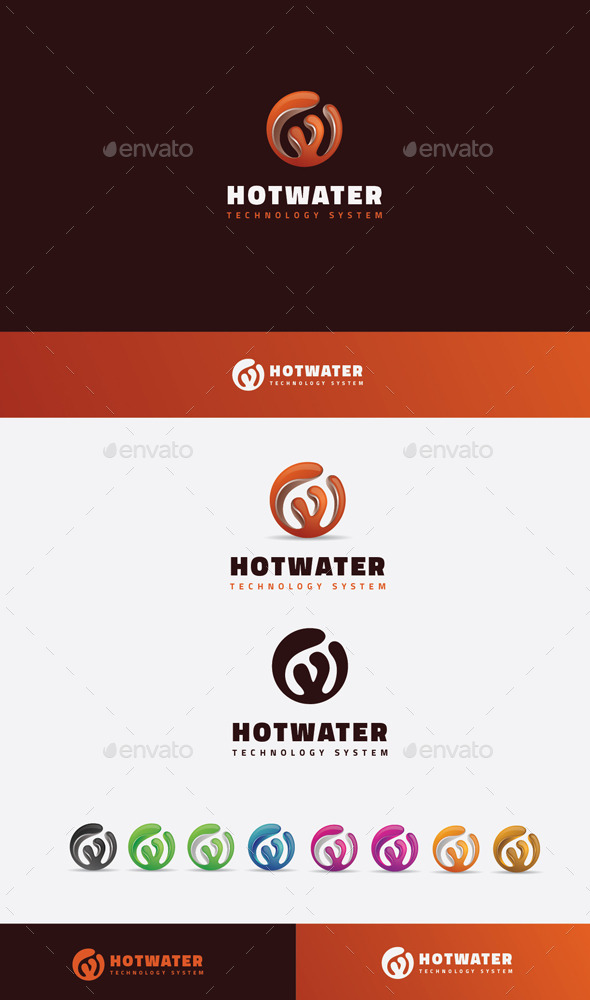 GraphicRiver Hot Water Logo 10205842