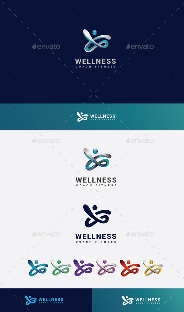 GraphicRiver Fitness Wellness Logo 10205845