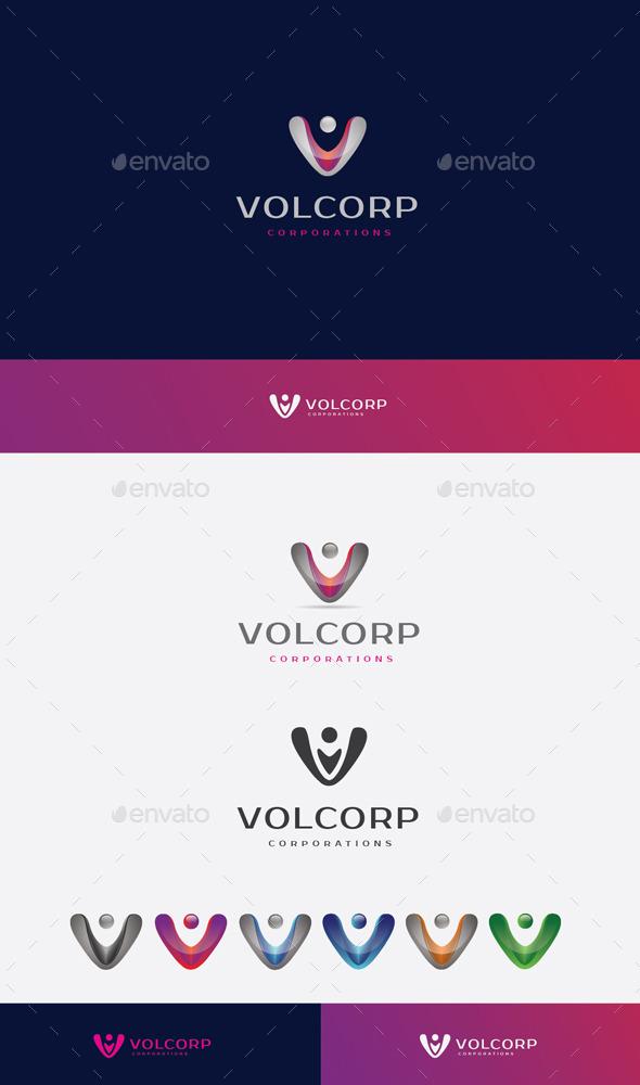 GraphicRiver V Letter Logo 10205852