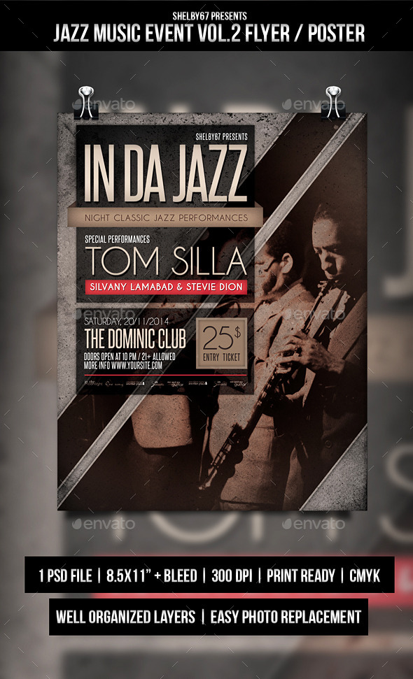 GraphicRiver Jazz Music Event Flyer Poster Vol.2 10206102