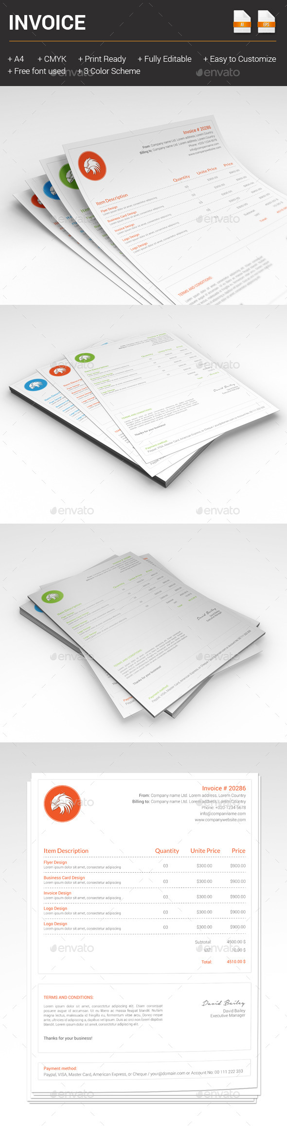 GraphicRiver Invoice 10206282