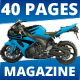 40 Pages A4 MotoRider Racing Magazine Template - GraphicRiver Item for Sale