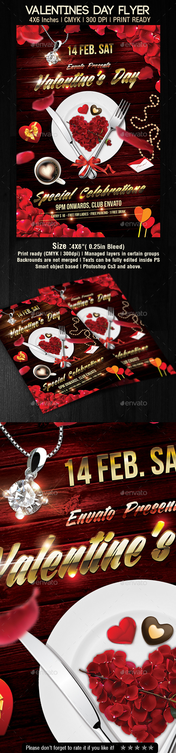 GraphicRiver Valentines Day Flyer 10206413
