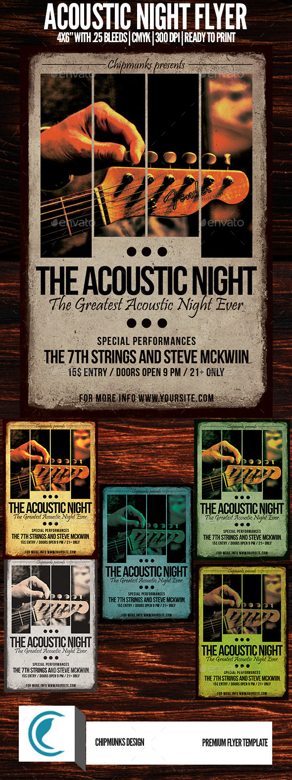 GraphicRiver Acoustic Night Flyer 10160288
