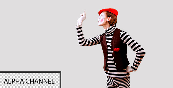 Mime Works With the Virtual Screen 2
