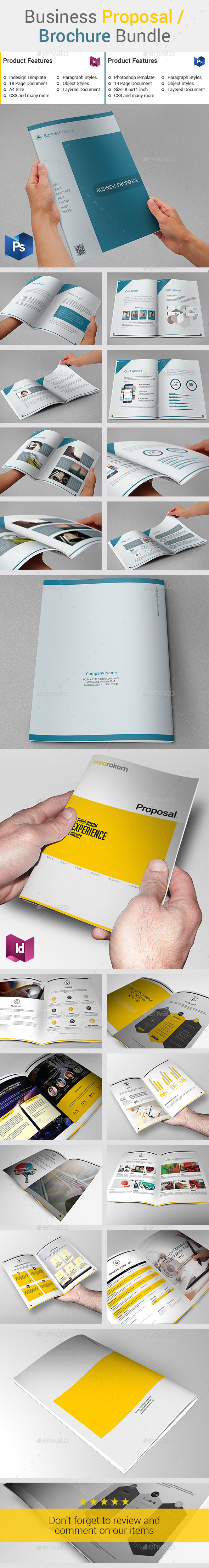 GraphicRiver Business Proposal Brochure Bundle 10206803