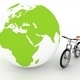 Bicycle and globe. Conception of tourism on an ecological transport - PhotoDune Item for Sale