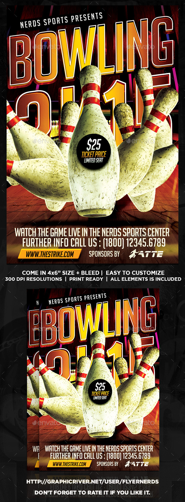 GraphicRiver Bowling 2K15 Championships Sports Flyer 10206940