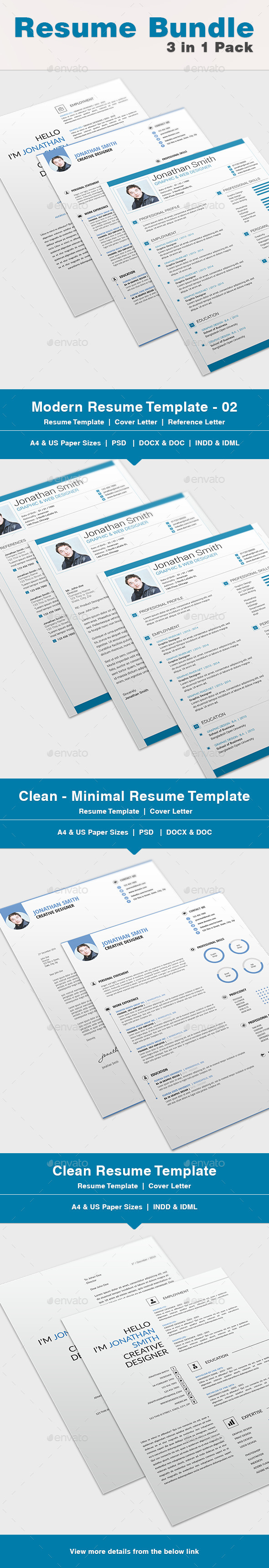 GraphicRiver Resume Bundle 02 10207354