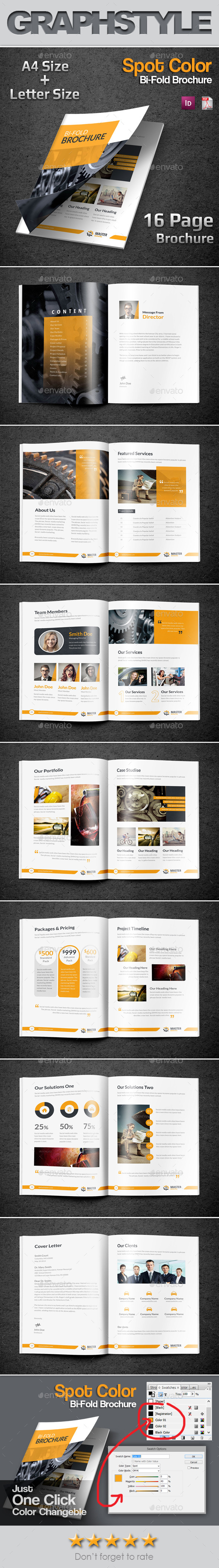 GraphicRiver Master Business Bi-Fold Brochure 10207526