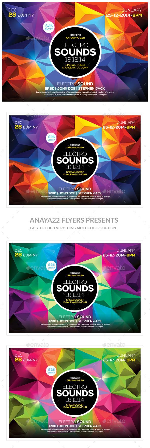 GraphicRiver Futuristic Flyer Template 10207716
