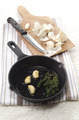 garlic and thyme in a pan - PhotoDune Item for Sale